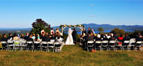 A wedding ceremony with spectacular views at Steele Hill