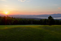 Sunrise over Lake Winnisquam and the Belknap Mountains from Steele Hill