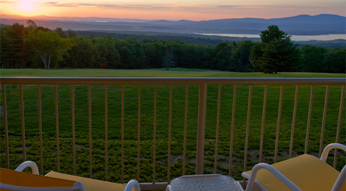 A view from the deck of a Steele Hill South suite