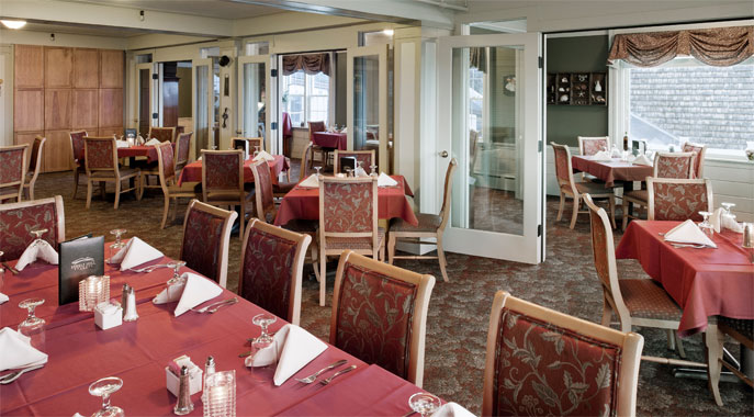 The main dining area at the Hilltop Restaurant